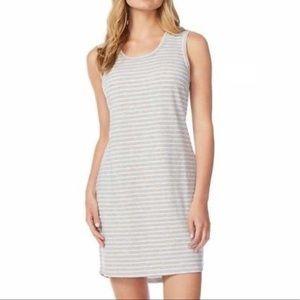 32 Degrees Gray & White Striped Dress